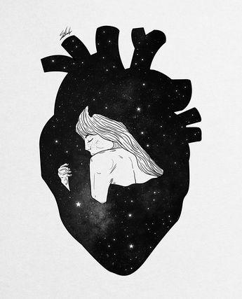 #Galaxy #Artwork #Illustrations #Behance #Heart #Love #Hugs #MuhammedSalah