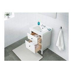 HEMNES / SKOTTVIKEN Sink cabinet with 2 drawers - white