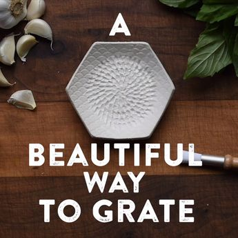 The Grate Plate: Handmade Ceramic Grating Plate