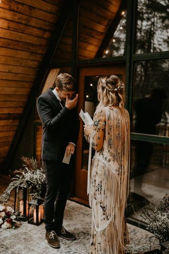 This A-Frame Cabin Elopement Inspiration is the Epitome of The PNW