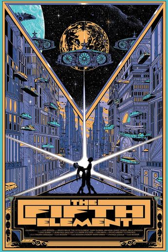 THE FIFTH ELEMENT Art Poster