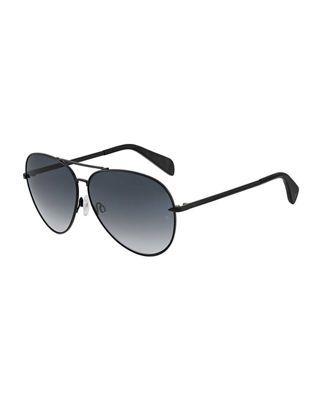 86b27a0978da4 Rag   Bone Mirrored Metal Aviator Sunglasses