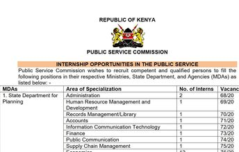 How to apply for Public Service Commission Internship, Benefits and Requirements