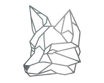 Articles similaires à Géométrique Fox, Fox géométrique en acier, Fox sticker Fox en métal, Art d'acier, acier Fox sur Etsy