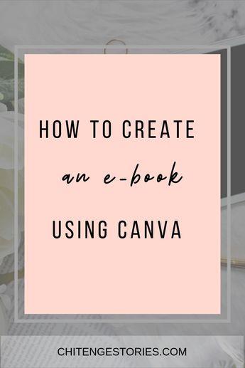 How to create an e-book using Canva