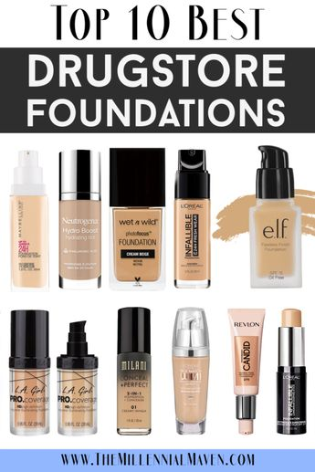 *UPDATED 2019* Top 10 Best Foundations at the Drugstore (Best Drugstore Foundations)