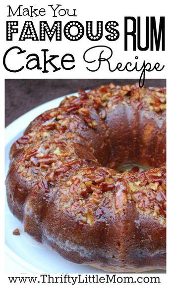 Make You Famous Rum Cake Recipe