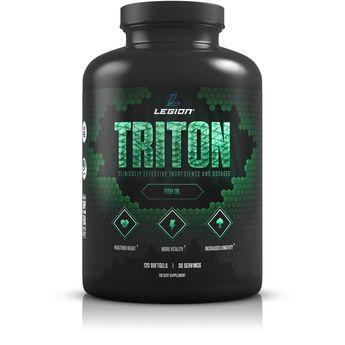 Legion Athletics Triton Fish Oil Capsules  Triple Strength Omega 3 Essential Fatty Acids with Vitamin E