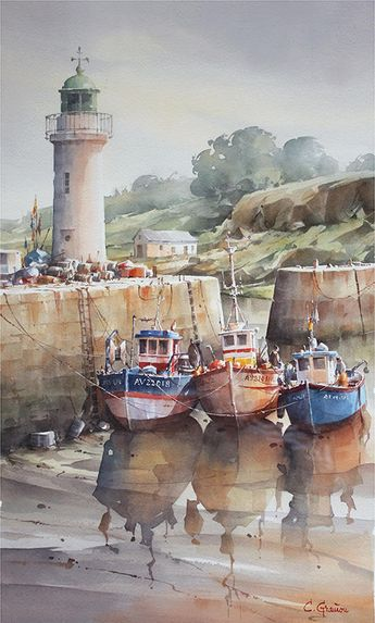 This image clearly demonstrates that watercolour can be used to both detail forms as well as vaguely represent them.