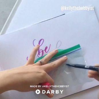 Calligraphy Tips for Blending Colors #darbysmart #diy #diyprojects #diyideas #diycrafts #easydiy #artsandcrafts #blendingcolors #calligraphy #moderncalligraphy #handlettering #tombowmarkers