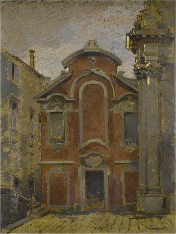 thunderstruck9: Walter Sickert (British, 1860-1942), Priest's House of San Stae, c.1903-04. Oil on board, 46 x 35 cm.