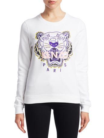 cfb81bafca3c Kenzo Tiger Graphic Sweatshirt - White Large