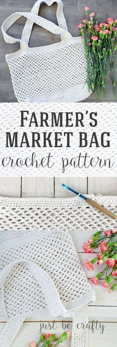 Crochet Farmer's Market Bag Pattern - Free Pattern by