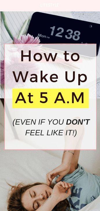 How to Wake Up At 5 a.m (Even If You Don't Feel Like It)! www.Everythingabode.com #wakingupearly #lifehacks #morningperson #morningtips #homelifetips