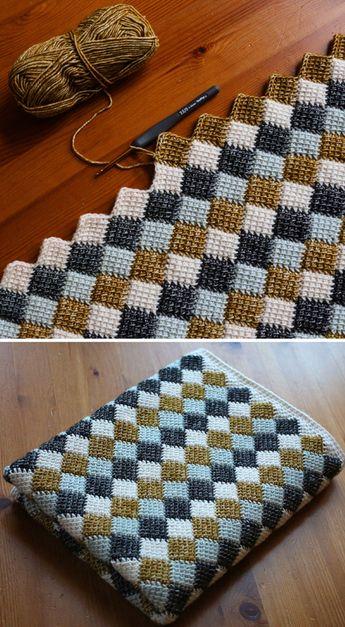 Entrelac Blanket - Free Crochet Pattern (Beautiful Skills - Crochet Knitting Quilting)
