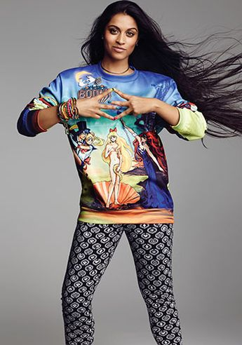 Lilly Singh in a Sailor Moon sweatshirt!!