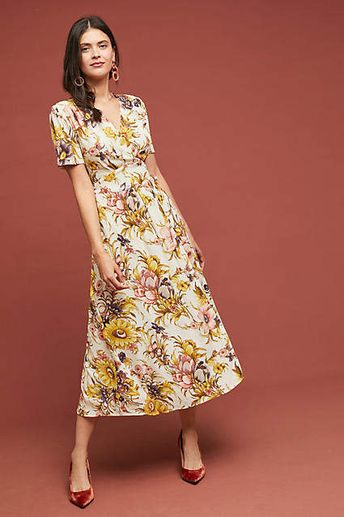 f9e9ce357ab1 Tiny Sunflower Wrap Dress #ad #AnthroFave #AnthroRegistry Anthropologie # Anthropologie #musthave #