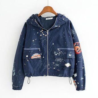 Harajuku Cosmic Galaxy Planet Jacket