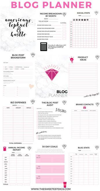 The Printable Blog Planner That Will Help You Grow Your Blog Biz - Gemma Bonham-Carter