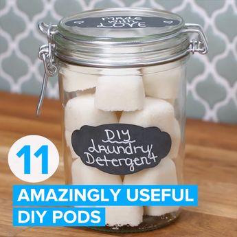 11 Amazingly Useful DIY Pods #hacks #cleaning #DIY