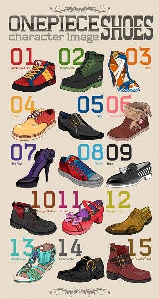 Les Mugiwara, leurs chaussures modernes.
