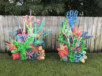 The Little Mermaid musical coral reef set design!