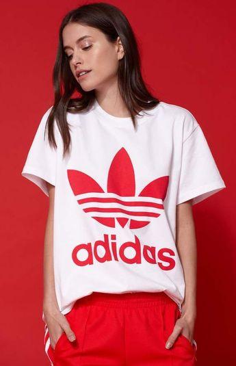 e771d6717dd adidas Adicolor Red Big Trefoil T-Shirt #adidas #adidasoriginals #sportswear