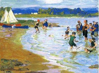 "Edward Henry Potthast (American, 1857 – 1927) ""The White Sails"""