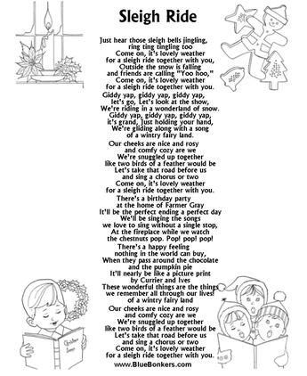 Image detail for -... Christmas Carol Lyrics Sheets : Favorite Christmas Song Sheets