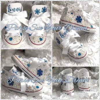 efb61163b1d21 Personalized Frozen Themed Pearl and Swarovski Crystal Conv