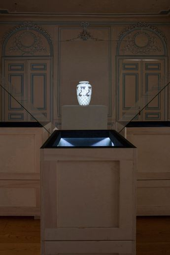 Artefacts appear as ghostly apparitions in exhibition by London-based Studio Glithero.
