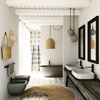 Sri Lanka has just been added to our bucket list. Seriously wanderlusting over this beautiful bathroom by @9provincespilana in one of their new villas. Imagine soaking in that tub! Every single detail is just perfect!