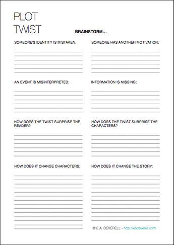Plot Twist Worksheet