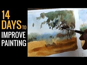 12 Minuts for watercolor painting - watercoloring tutorial for beginners - YouTube