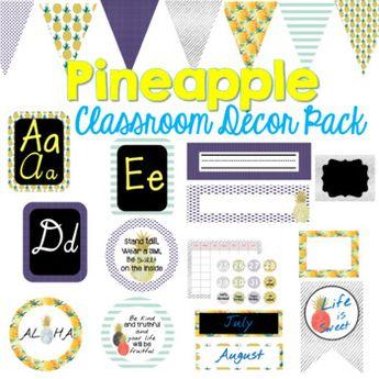 Pastel Pineapple Classroom Decor Organization