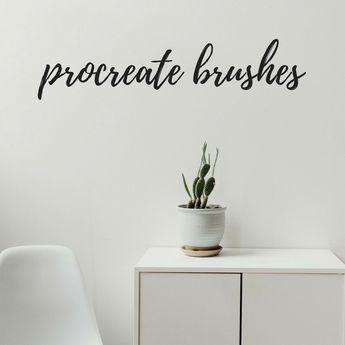 Texture Procreate Lettering Brush Bundle