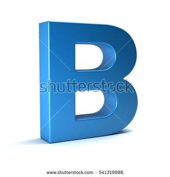 B Letter Icon. 3D Render Illustration