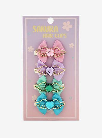 Pastel Wings & Bows Hair Clip SetPastel Wings & Bows Hair Clip Set,