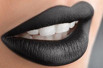 Black Midinight Black Matte Liquid Lipstick Lipstain