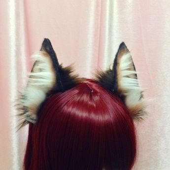 """""""✨ Siamese Cat Ears! Would love to get your input on these! I tried to make them extremely realistic instead of my usual style ~ I do keep lil floofs at…"""""""
