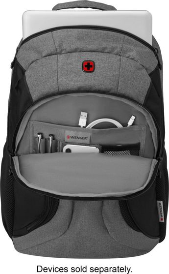 "Wenger - Swiss Gear Backpack for 16"""" Laptop - Black/Heather"