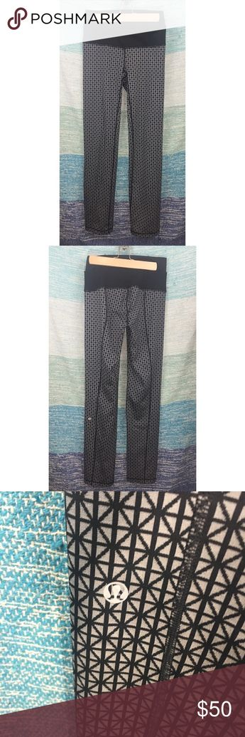 3f4b4df979a99b Lululemon Straight Up Tri Geo Silver Spoon Pants Excellent used condition,  without flaws. skinnies