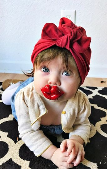 Red Hat: (jersey) w/ top knot, baby turban hat, baby bow hat, newborn hat, holiday hat, baby's first