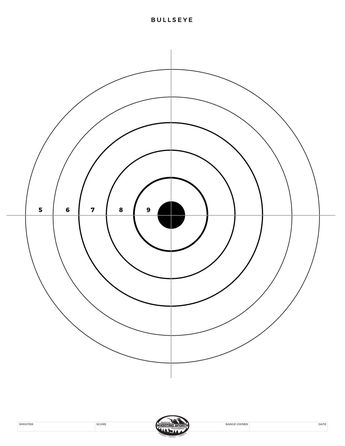 photograph about Printable Shooting Targets 8.5 X 11 identified as Bullseye Emphasis; printable plans for BB gun train