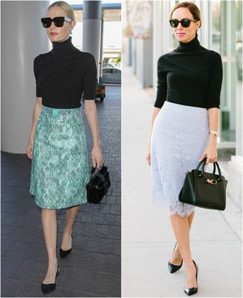 Kate Bosworth's Turtleneck with Lace