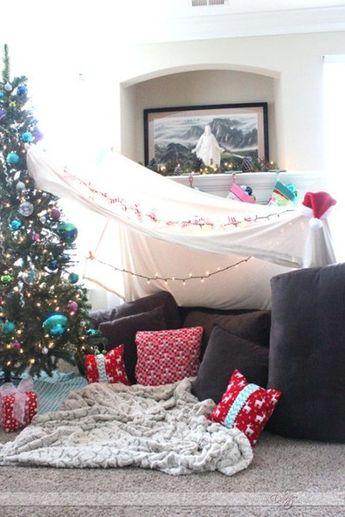 Set up a Christmas campout