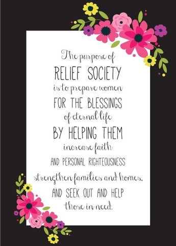 The Unconventional Relief Society \