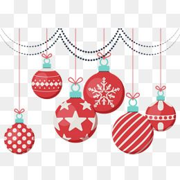 Cute Red Christmas Ornaments, Red, Christmas Balls, Christmas Ornaments PNG and Vector with Transparent Background for Free Download