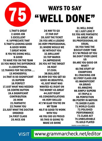 """Here are different ways to say """"well done"""" ✨"""
