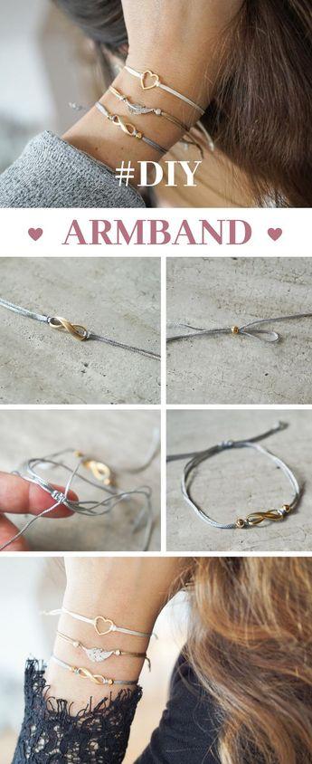 Einfache DIY Armbänder mit Schiebeverschluss